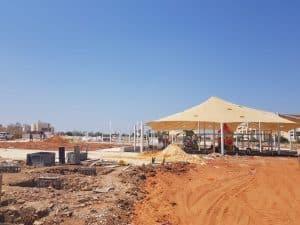 ספורטק גדרה - אתר הבניה היום